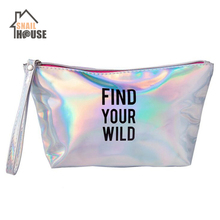 Snailhouse Fashion Letter Cosmetic Bag PU Professional Makeup Organizer Travel Waterproof Portable Case Wash Kit