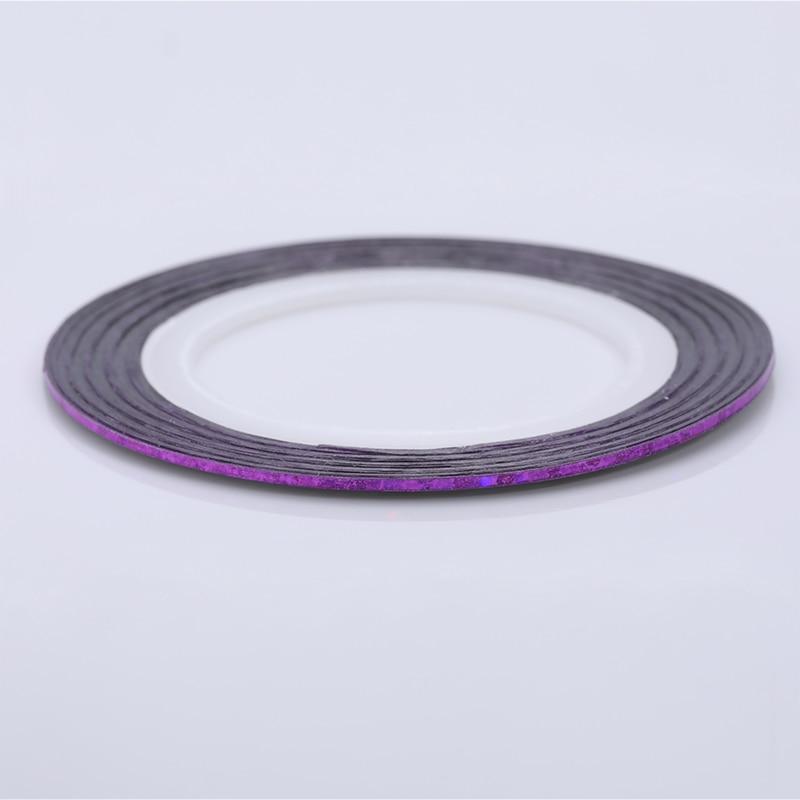 2 мм матовый блеск для ногтей, Чередование ленты линия разноцветные, для ногтей инструмент для укладки волос Стикеры наклейка DIY украшения для ногтей - Цвет: 21