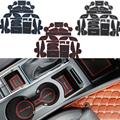 22 Pcs/Set Car Styling Gate Slot Pad Interior Door Groove Mat Anti-Slip Cushion For Hyundai Tucson 3rd 2015 2016 LHD
