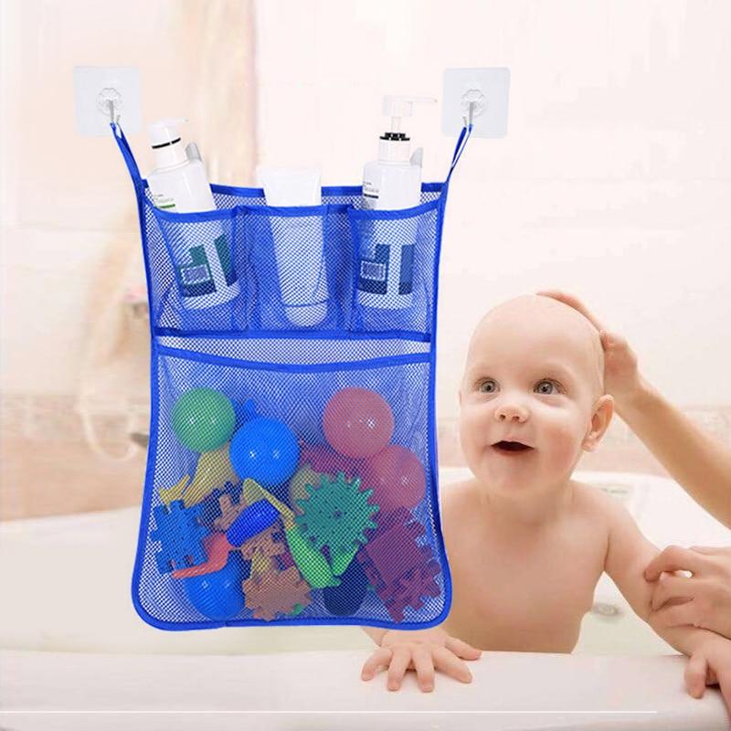 Baby Kid Bath Bathtub Toy Storage Hanging Bag Mesh Home Bathroom Organizer Net