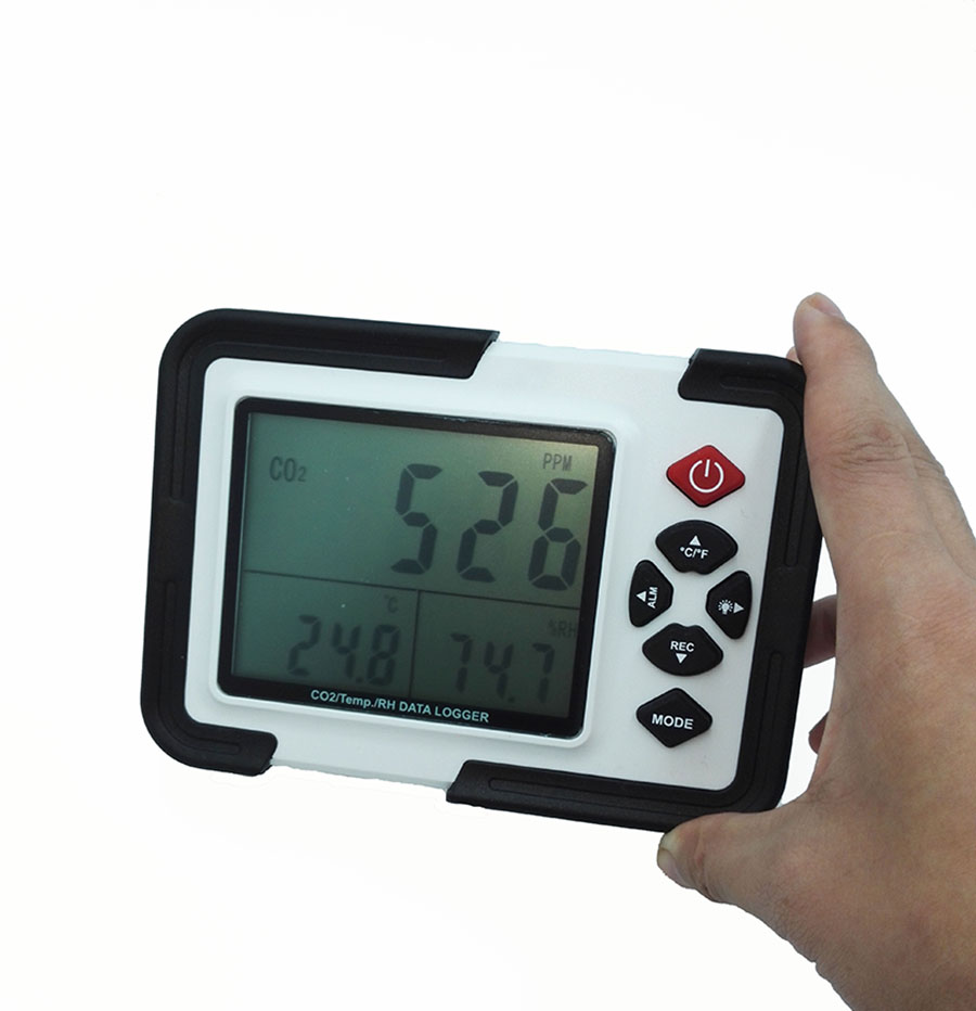 Digital CO2 Monitor CO2 Meter Gas Analyzer detector 9999ppm CO2 Analyzers With Temperature and Humidity Test HT-2000 mc 7806 digital moisture analyzer price with pin type cotton paper building tobacco moisture meter