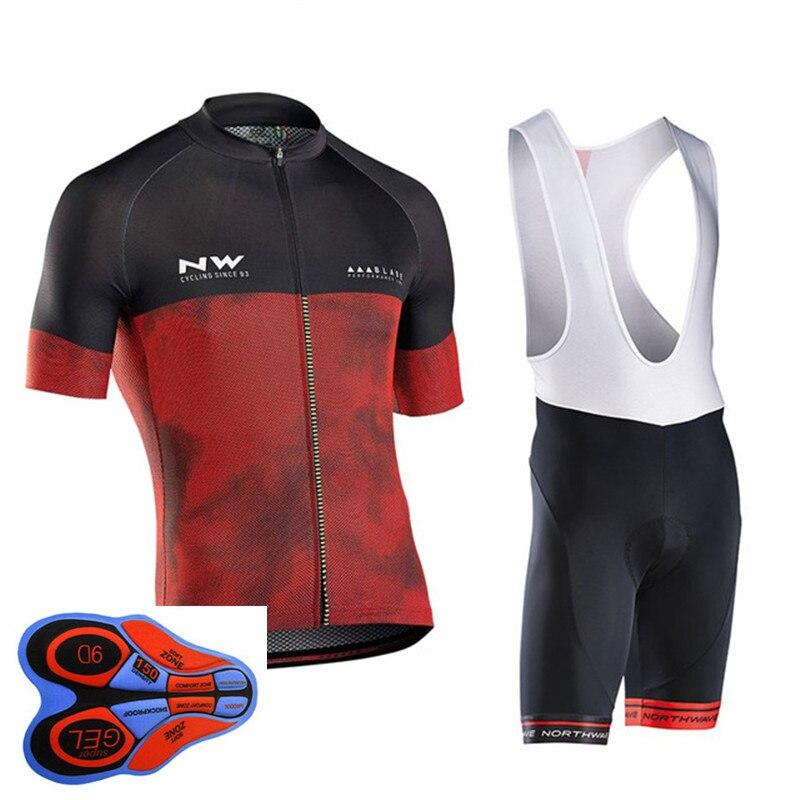 2018 NW Pro Cycling Jersey Set D'été À Manches Courtes Vélo Vélo Vêtements Roupa ropa Ciclismo Cycle Maillot uniforme #524