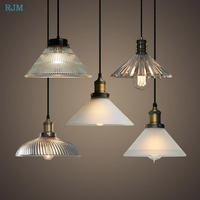 American Country Retro Pendant Lights Industrial Glass Single Binisi Hang Lamps Kitchen Restaurant Bar Living Room Cafe Lights