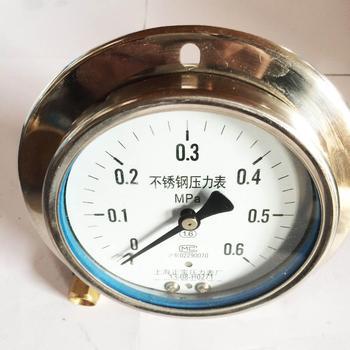 YN100-BFZ 0~16Mpa axial pressure gauge pressure gauge stainless steel corrosion proof pressure gauge charge