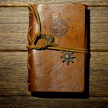 1Pcs Spiral Notebook Diary Notepad Vintage Pirate Anchors PU Leather Note Book Replaceable Stationery Gift Traveler Journal new diary notebook vintage pirate note book replaceable traveler notepad book leather cover kraft paper notebook
