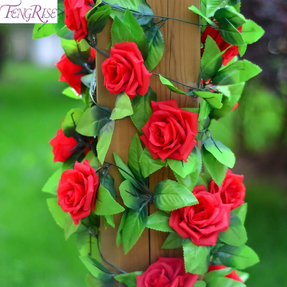 FENGRISE Підроблені шовкові троянди Ivy - Святкові та вечірні предмети