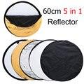 """24 """"60 cm 5 en 1 Reflector Ligero Plegable Fotografía Portable Ronda de Estudio De Fotos del Disco"""