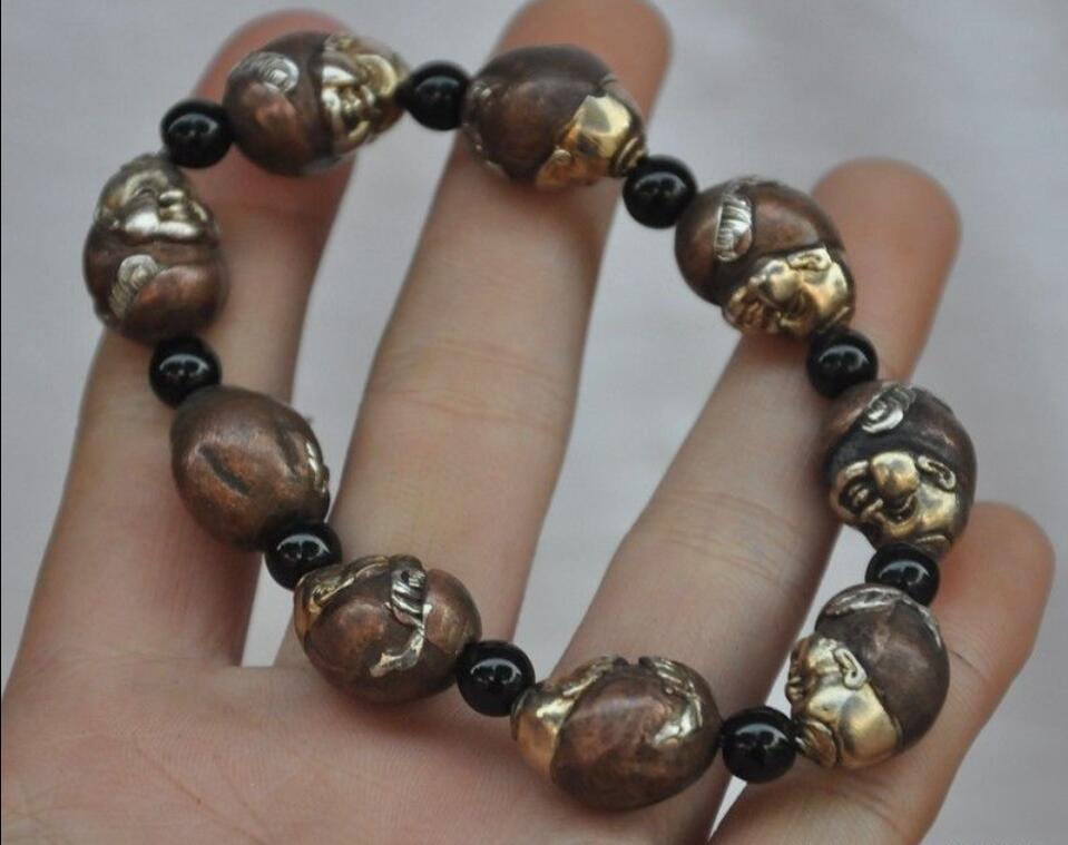 Bracelet en bronze chinois Maitreya bouddha statue bracelet Bracelet bracelet Bracelet bracelet Bracelet>>> livraison gratuite