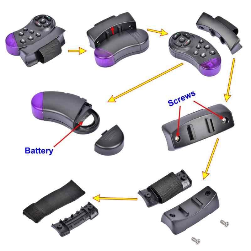 11-Portabel Kunci Carro Controle Remoto Universal Mobil MP5 Multimedia Player CD DVD VCD Roda Kemudi Remote Kontrol Nirkabel