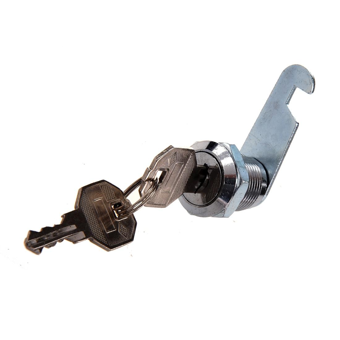 Ton argent métallique 18.5 x Filetage 17 mm armoire tiroir Cam Lock 2 set