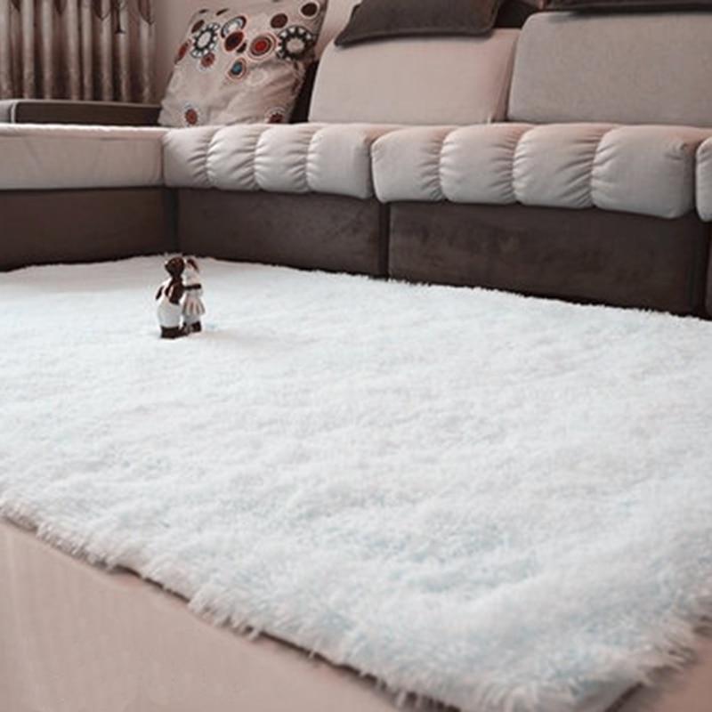 80*120cm Fluffy Rugs Anti-Skid Shaggy Area Rug Bedroom Bathroom Dining Room Home Carpet Floor Mat Pink/Black/Gray/Green/Wine