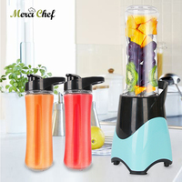 Household Mini Blender Bottle 600ml Capacity Vegetable Fruit Juicer Electric Multifunction Blender Portable Lemon Cup Juicer