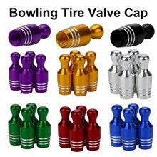 2018 Hot selling New Cover Caps 2.7x1cm 7 colors 4x Aluminum Bullet Car Truck Cover Bowling Tire Rim Valve Wheel Stem Caps(China)