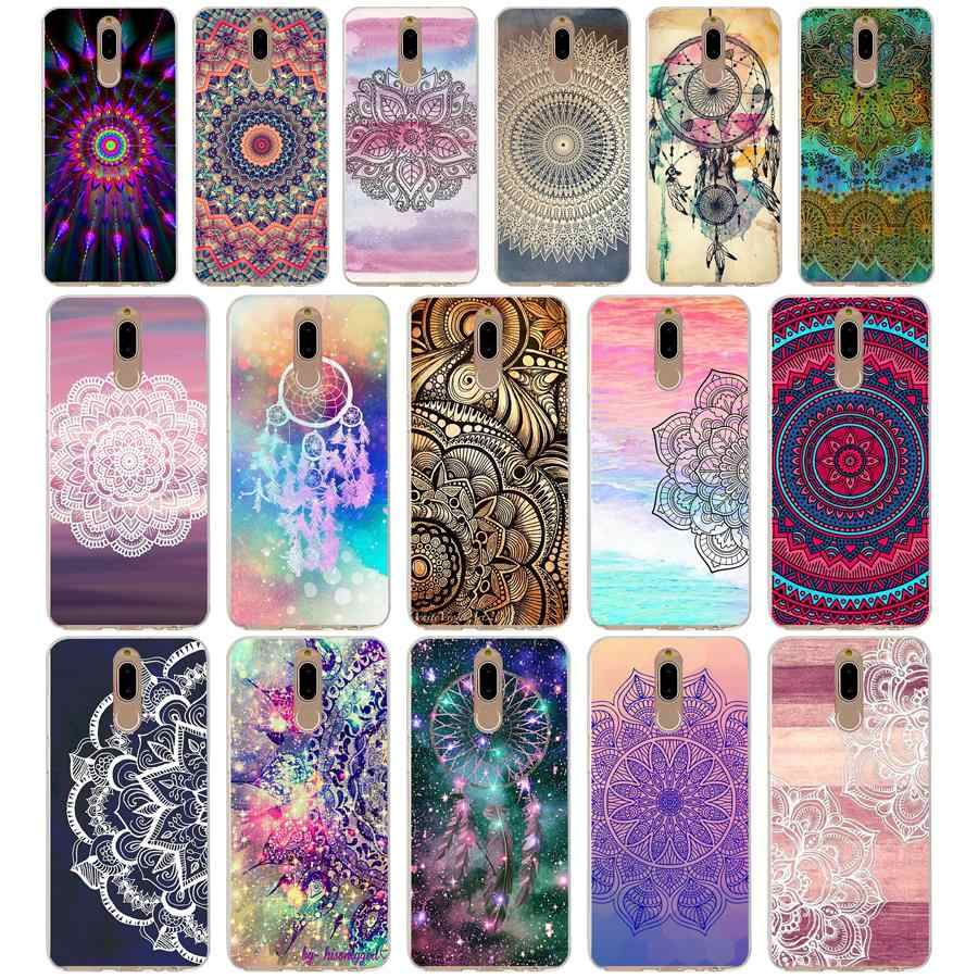 42G gold mandala Soft TPU Silicone Cover Case for huawei mate 10 p9 lite 2017 p smart