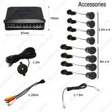 Black Car 8 Sensors Front Rearview Visual Video Parking Sensor Backup Radar System #J-2848