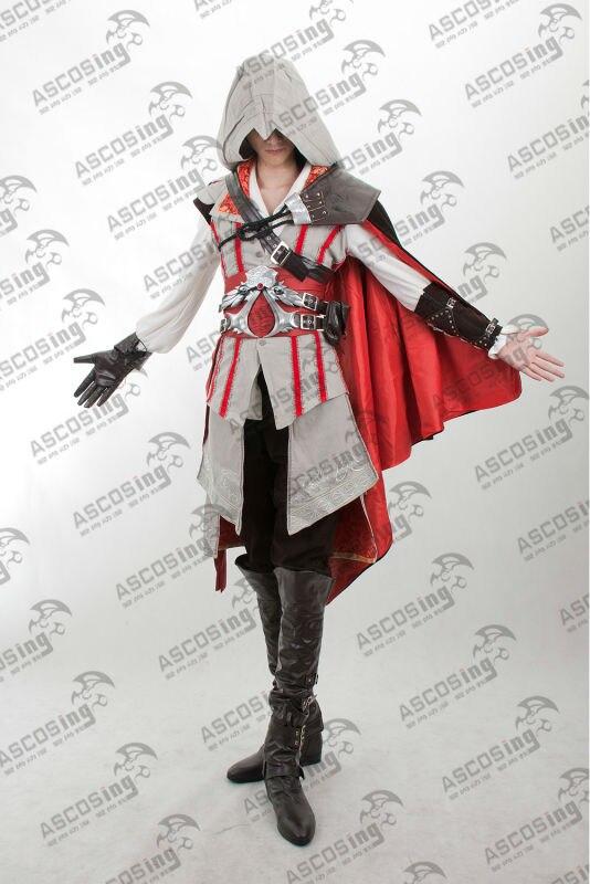 Assassins Creed 2 Ii Ezio White Upscale Anime Cosplay Costume