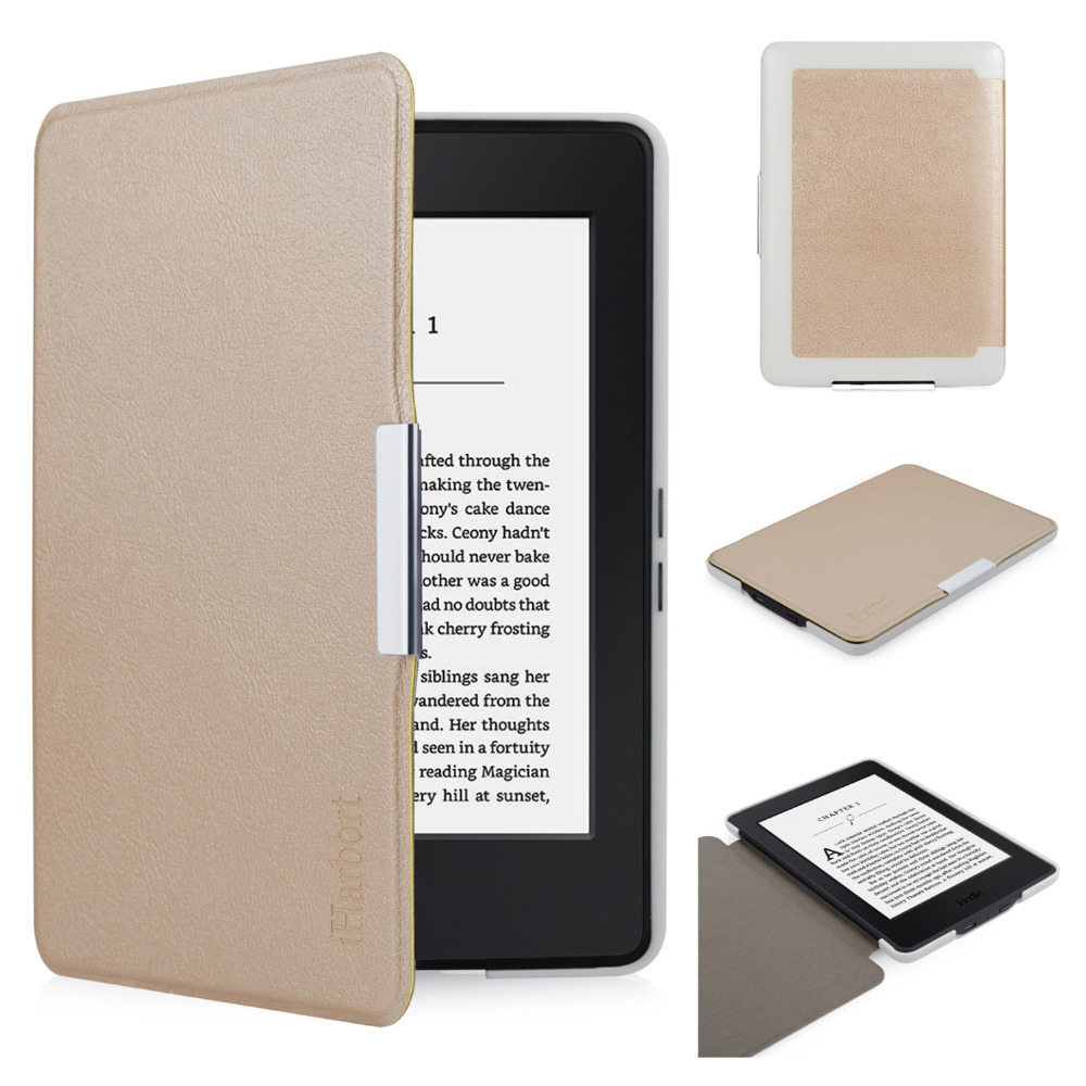 Protective Case for Amazon Kindle Paperwhite, iHarbort PU Leather Case for Kind Paperwhite smart Cover Anti-Dust and Shockproof 2018 new e book case for kindle paperwhite protective cover for amazon kindle paperwhite 3 2 1 pu leather protector sleeve 6
