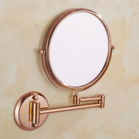 Bathroom Mirror Wall Mounted 8 inch Brass 3X/1X Magnifying Mirror Folding Rose gold/Gold Makeup Mirror Cosmetic Mirror Lady Gift