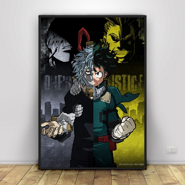 Boku No Hero Academia Art Silk Poster Home Decor 12×18 24x36inch