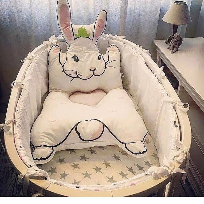 цена на Rabbit Carpet Game Pad Kids Playmats Baby Crawling Blanket Gym Play Mat Floor Carpet cushion For Baby crib Room decoration B35