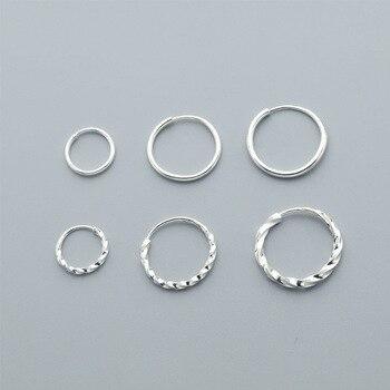 990507270ea7 S990 esterlina Pendientes de plata para las mujeres los hombres