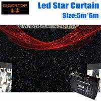 Korting Prijs 5 M * 6 M & 6 M * 5 M LED Ster Gordijn RGBW Kleur Mengen Licht gordijnen LED Star Doek voor Bruiloft Decoratie 90 V-240 V