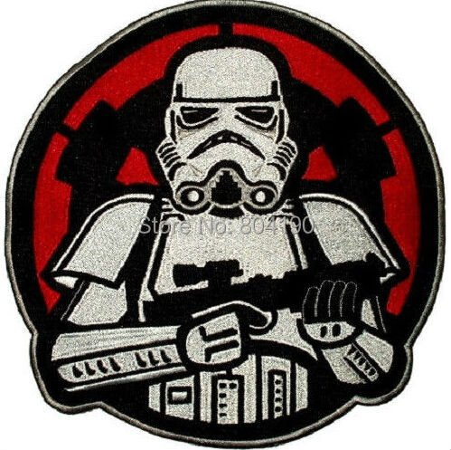 3 STAR WARS Stormtrooper with Empire Logo Back Darth Vader Embroidered Uniform Movie Iron On Patch