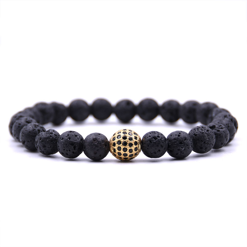 Kang hua 2019 high Quality 5 color stone Pave CZ Gold Ball Bracelets for Men Women beautiful Jewelry popular Pulsera Selling in Strand Bracelets from Jewelry Accessories