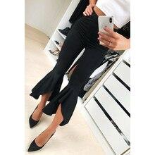 Fashion Asymmetric Frill Hem Ruffle Trousers Women's Bottom