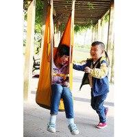 Los niños colgante al aire libre silla inflable cojín hamaca seguridad duradera portátil Hamac para niños chico jardín jugando Swing Hamak