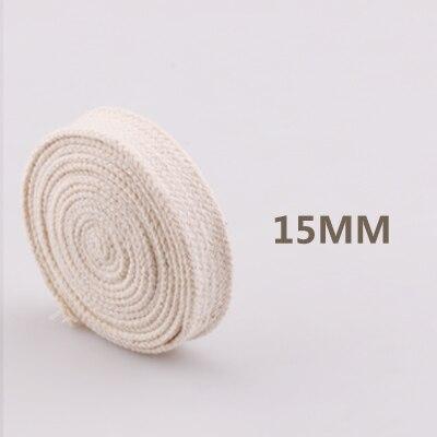 5yd/лот высокопрочный натуральный цвет 3ply круглый плоский канат хлопок шнуры для дома ручной работы аксессуары для одежды проекты рукоделия - Цвет: flat 15mm