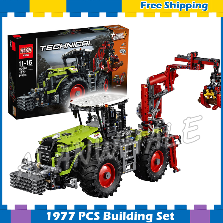 1977pcs 2in1 Technic Motorized Claas XERION 5000 TRAC VC Machineshop 20009 Model Building Blocks Gifts sets Compatible With lego1977pcs 2in1 Technic Motorized Claas XERION 5000 TRAC VC Machineshop 20009 Model Building Blocks Gifts sets Compatible With lego