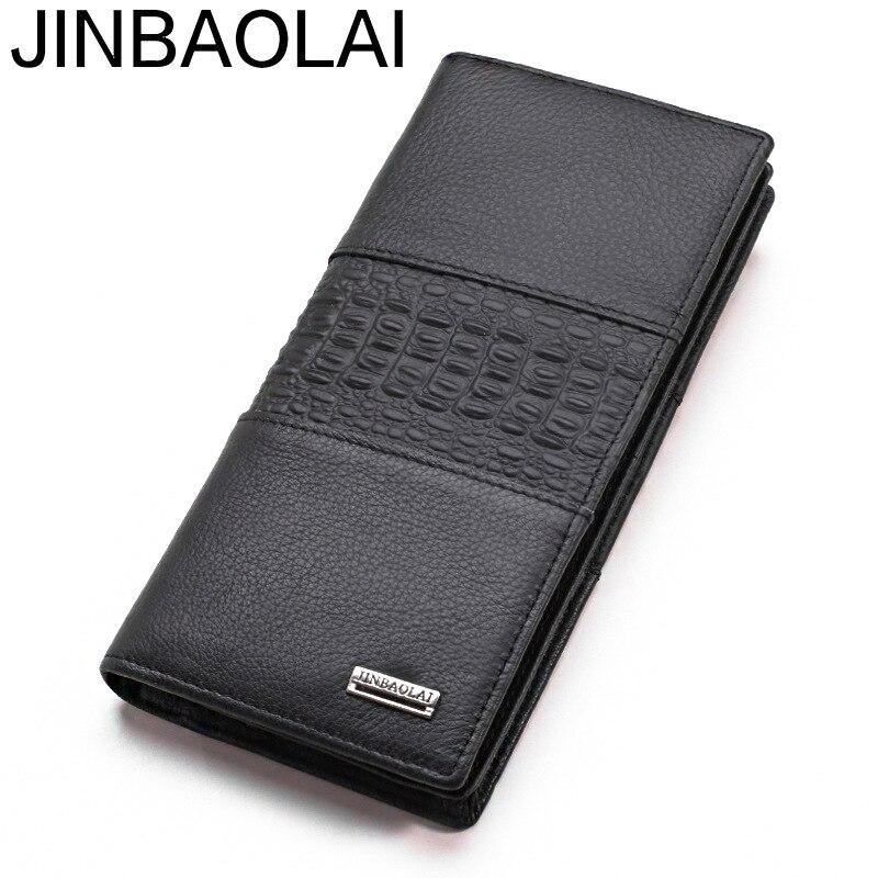 487d497bed61 Длинные Handy из натуральной кожи Для мужчин бумажник мужской клатч-кошелек  сумка Бизнес держатель для