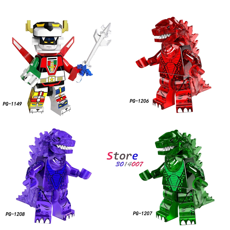 Single The God of War King Kong Movie Series Voltron Team Godmars Godzilla figure building blocks model bricks toys for children loz diamond blocks dans blocks iblock fun building bricks movie alien figure action toys for children assembly model 9461 9462