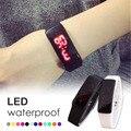 1 шт. LED Прикоснуться Электронные Часы Световой Кольцо Руки Часы Мужчины Женщины Студент любителей Цифровой Наручные Часы унисекс Силиконовые моды H4