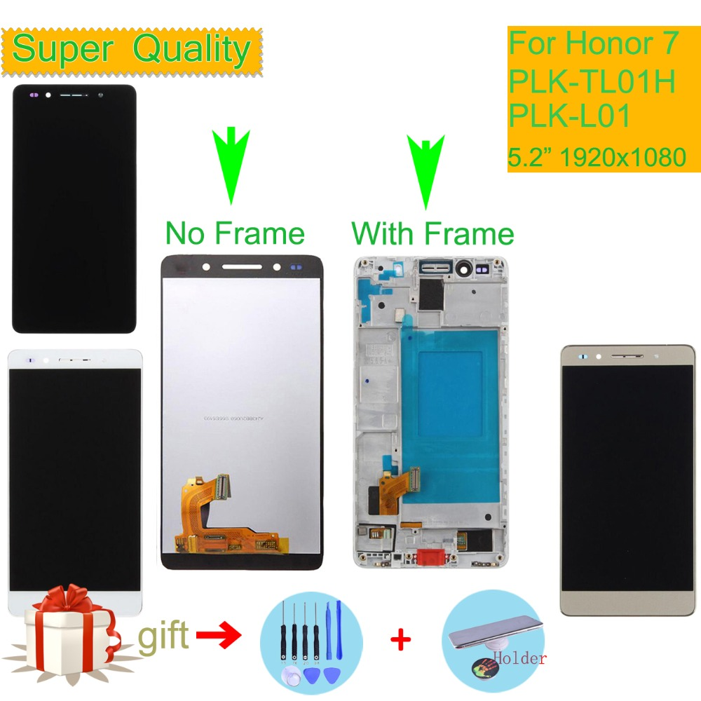 ORIGINAL LCD For HUAWEI Honor 7 LCD Display Touch Screen Digitizer with Frame PLK TL01H PLK