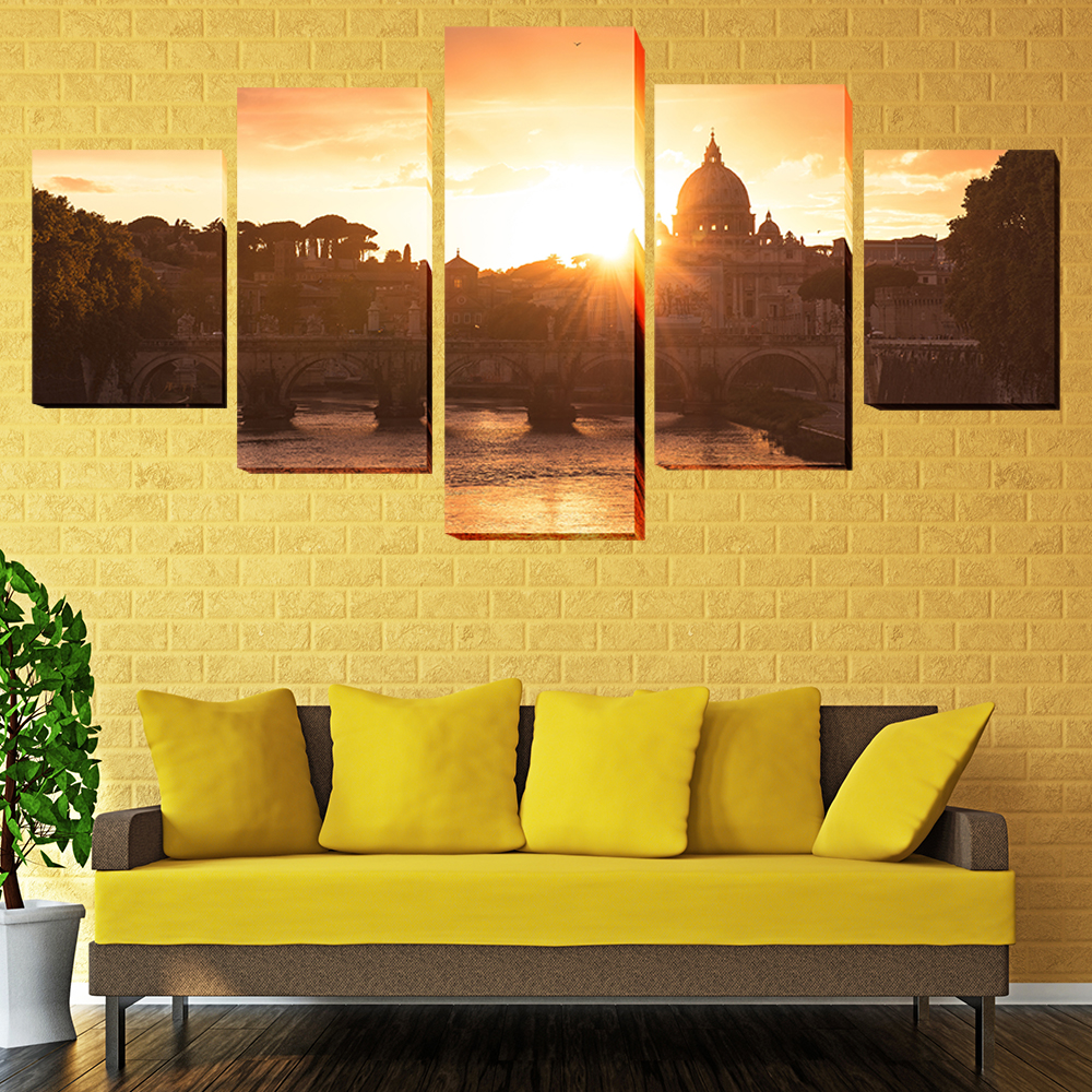 Canvas HD Prints Pictures Wall Art Poster 5 Pieces Baroque Style ...