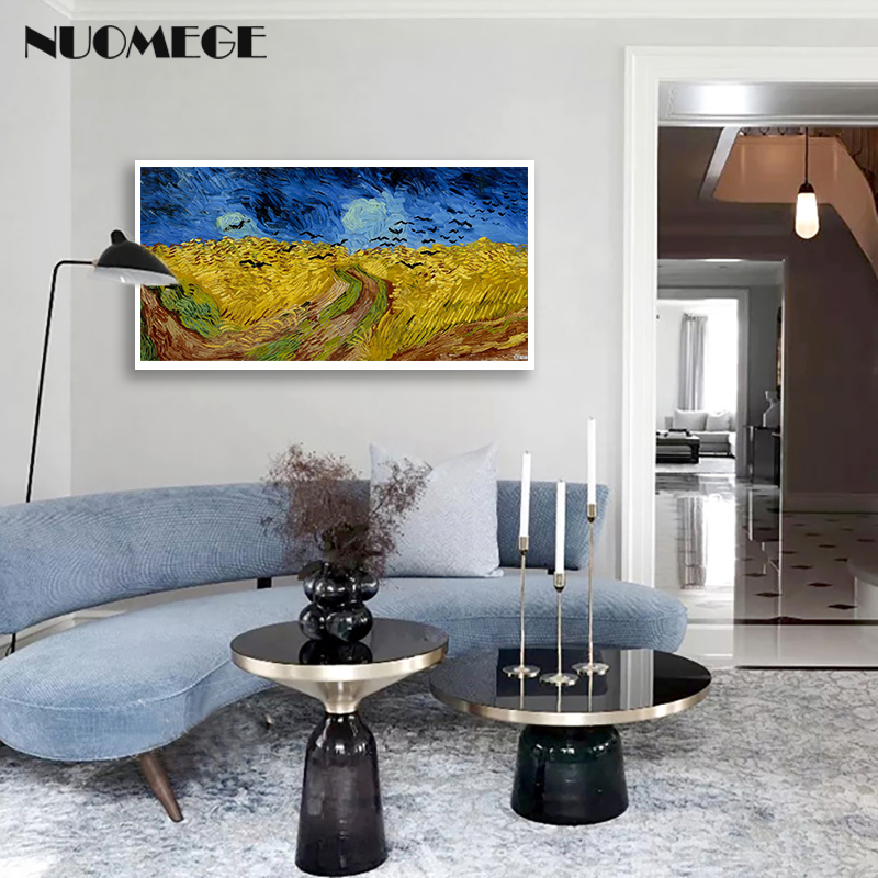 Vincent Van Gogh Oil Painting On Canvas Wheat Field with Crows abstract painting Art Wall Pictures for Living Room