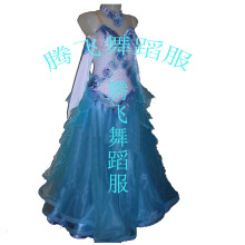 Sequins friendship GB performance costumes modern waltz dress skirt large swing dress