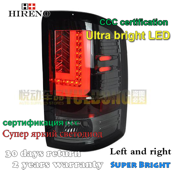 Hireno Tail Lamp for GMC Sierra 2010 2011 2012 2013 2014 LED Taillight Rear Lamp Parking Brake Turn Signal Lights