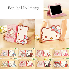 3D Lovely Hello Kitty Smart Case For Ipad6 Air 2 Tablet Case For Apple Ipad 5 Air Cover Cartoon Case For new ipad2017 A1822