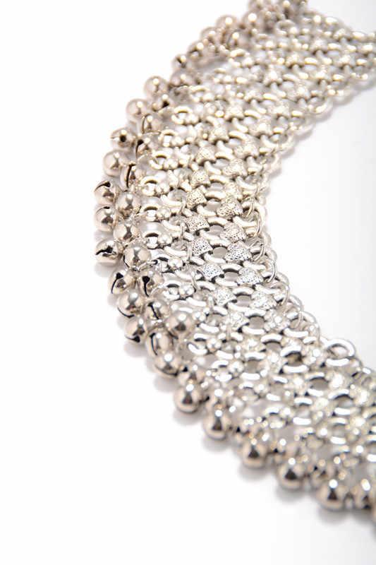 1 PC wielowarstwowe srebrne dzwony Tassel boso sandały obrączki dla kobiet etniczne kostki stóp bransoletka Cheville plaża indie biżuteria