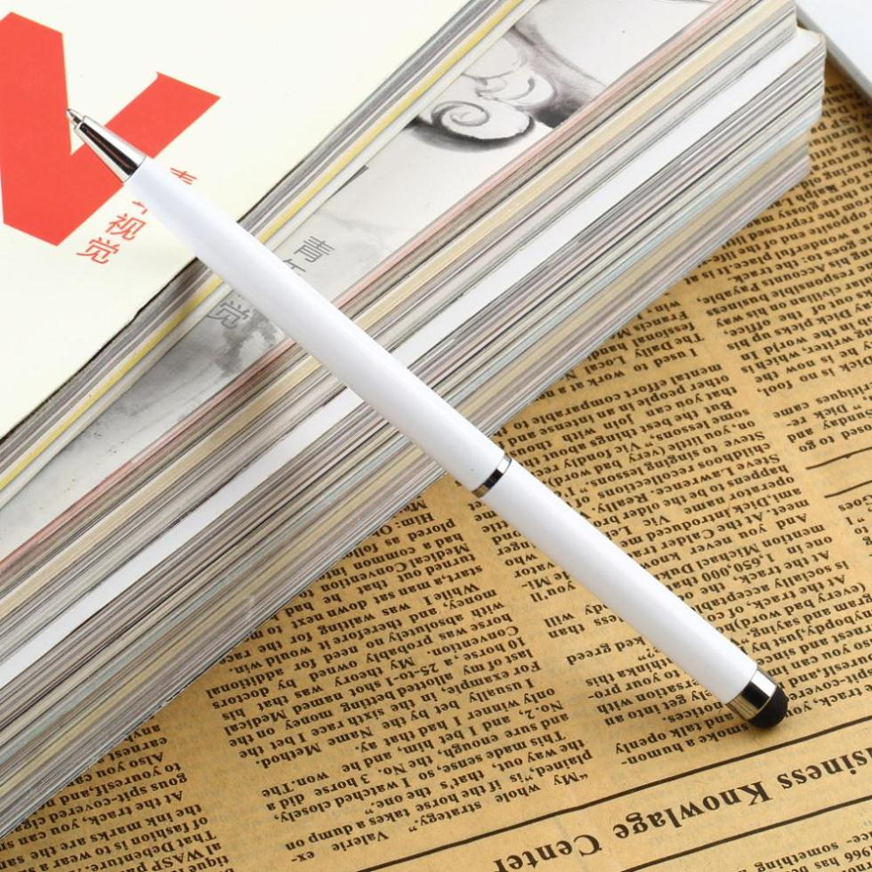 1pcs 2 In1 Capacitive Touch Screen Stylus Pen With Ball Point Pen For IPad 2 3 For IPhone 4 4S Drop Shipping Wholesale