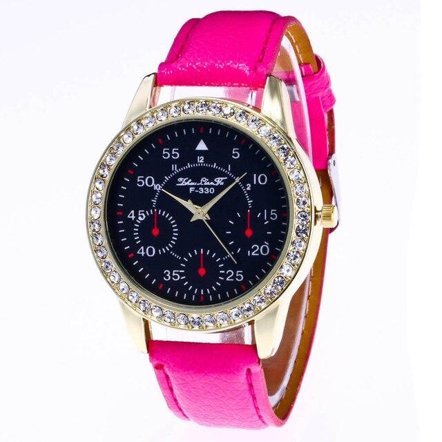 cef624b090d 12 Cores Relógio Barato Mulheres Marca Doce Cor do sexo Masculino E  feminino PU Pulseira de