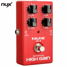 NUX HG-6 Distortion High Gain Effect Electric Guitar Effect Pedal True Bypass Durable Guitar Parts & Accessories new