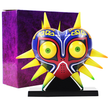 Wargami maska Majoras Mask z lampa biurkowa lampa pcv Action figurka Model kolekcjonerski zabawki