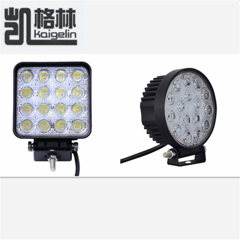 1PCS 48W Square/Round Shape Flood Worklight Head Lamp Truck Motorcycle Off Road Fog Lamp Tractor Car LED Headlight Work Lights