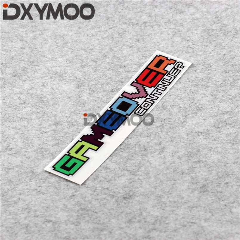 Reflective Decorate Auto Window Stickers HF Hellaflush Colorful JDM Game Sticker for GAME OVER CONTINUE