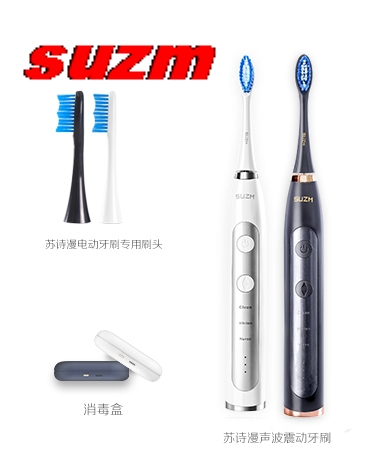 SUZM brosse à dents électrique pour adultes USB Sonic Rechargeable brosses à dents 2 têtes de remplacement minuterie intelligente étanche