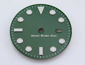 Image 2 - 28.5/31.5mm Black/Blue/Green/White Dial Sterile Fit Mingzhu 2813/3804 Movement Mens Watch Accessory